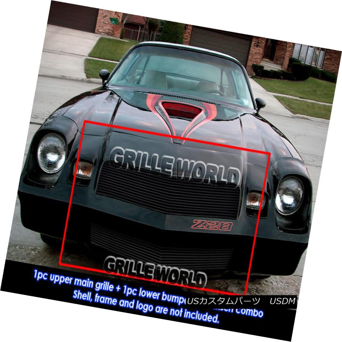 グリル For 78-81 Chevy Camaro Black Billet Grille Grill Combo Insert 78-81シボレーカマロブラックビレットグリルグリルコンボインサート