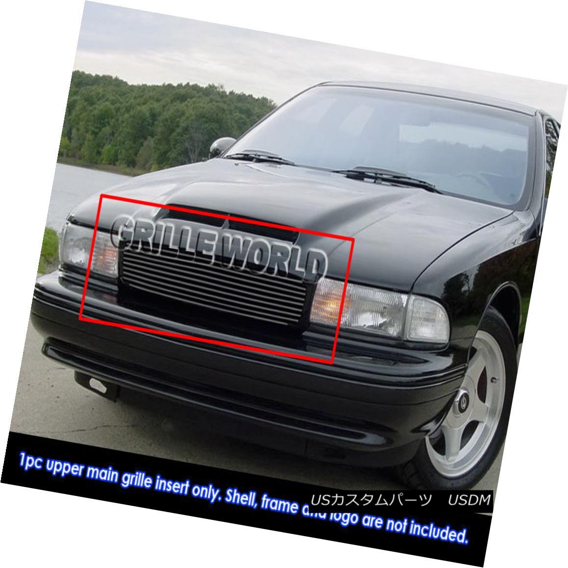 グリル For 94-96 Chevy Impala SS Black Billet Grille Grill Insert 94-96シボレーインパラSSブラックビレットグリルグリルインサート用