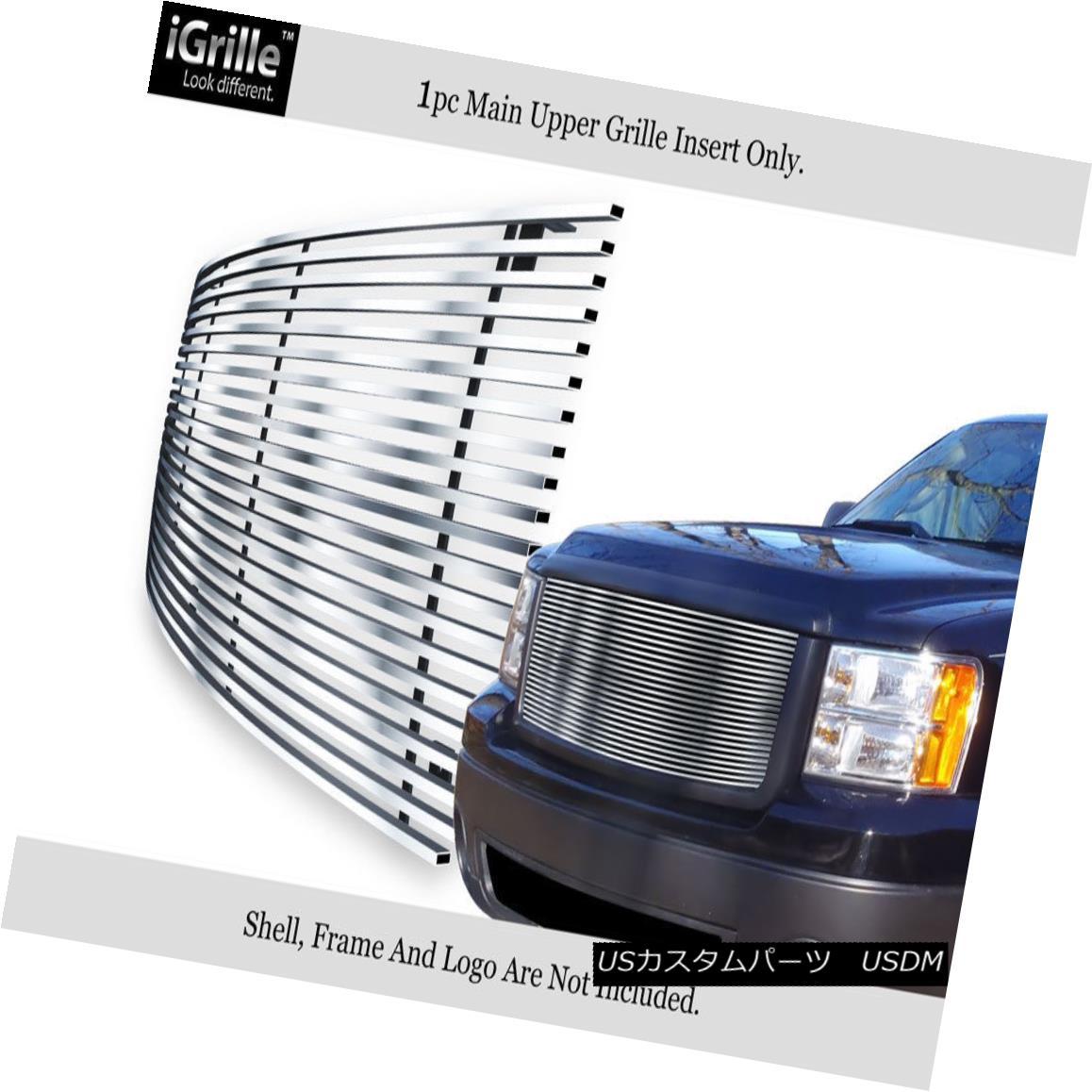 グリル Fits 2007-2013 GMC Sierra 1500 Stainless Steel Billet Grille Grill Insert 2007-2013 GMC Sierra 1500ステンレス鋼ビレットグリルグリルインサートに適合
