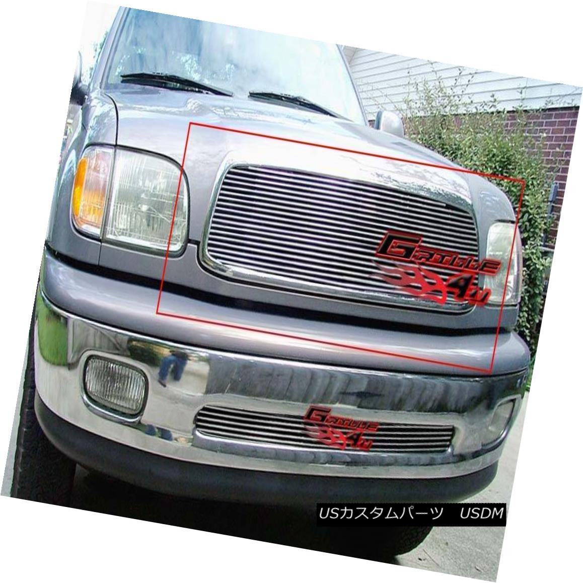 グリル Fits 1999-2002 Toyota Tundra Billet Main Upper Grille Insert フィット1999-2002トヨタトンドラビレットメインアッパーグリルインサート