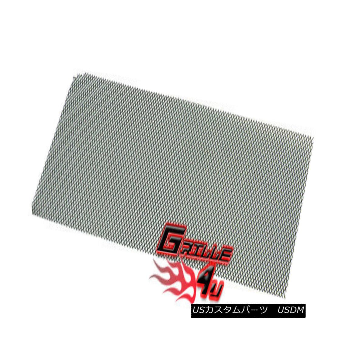 グリル For Universal Black Stainless Steel Mesh Premium Grille 12X48 1pc ユニバーサルブラックステンレススチールメッシュプレミアムグリル12X48 1個