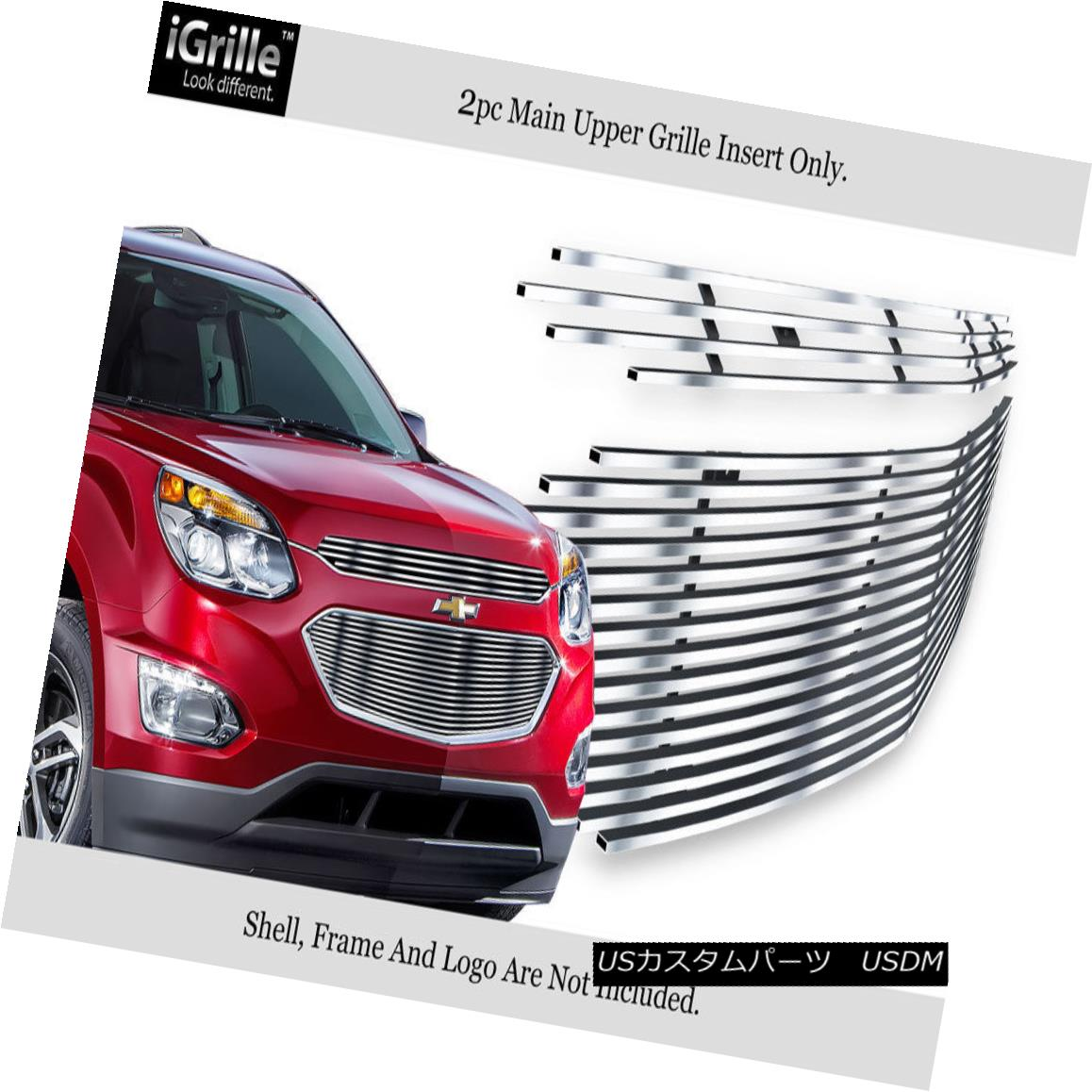 グリル Fits 2016-2017 Chevy Equinox Stainless Steel Billet Main Upper Grille 2016-2017 Chevy Equinox Stainless Steel Billetメインアッパーグリルに適合