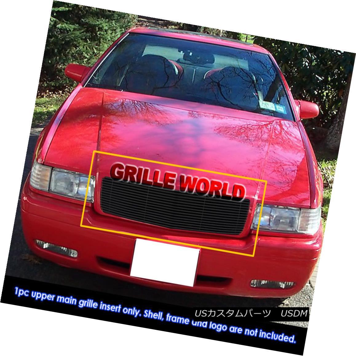 グリル Fits 1995-2002 Cadillac EL Dorado Black Billet Main Upper Grille Insert フィット1995-2002キャデラックELDoradoブラックビレットメインアッパーグリルインサート