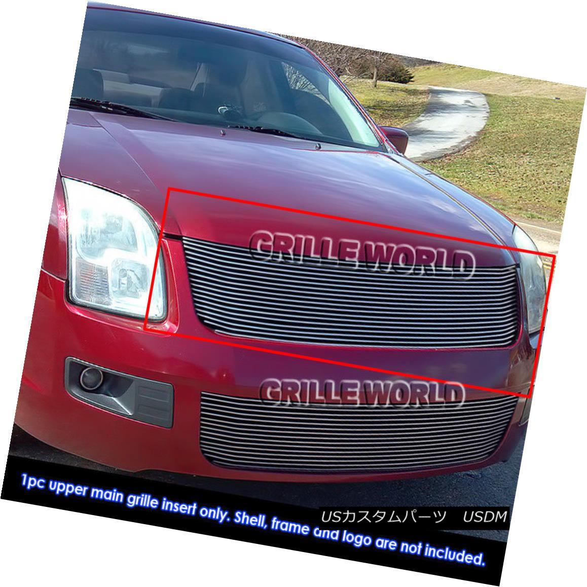 グリル Fits 2006-2009 Ford Fusion Billet Main Upper Grille Insert フィット2006-2009フォードフュージョンビレットメインアッパーグリルインサート