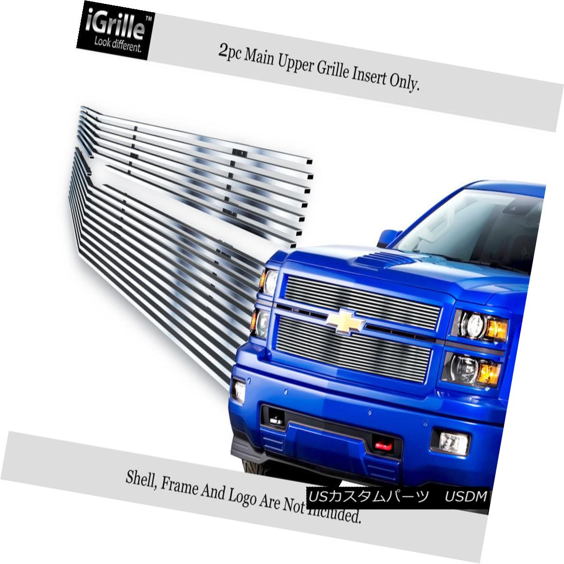 グリル For 2014-2015 Chevy Silverado 1500 Reg Model Stainless Steel Billet Grille 2014-2015 Chevy Silverado 1500 Regモデルステンレス鋼ビレットグリル