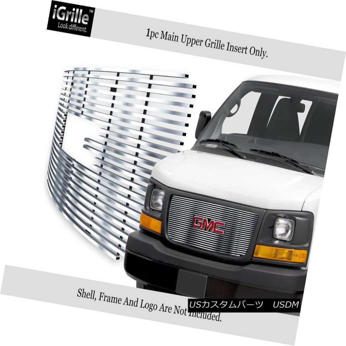 グリル Fits 2003-2018 GMC Savana Explorer Conversion Stainless Steel Billet Grille フィット2003-2018 GMCサバナエクスプローラ変換ステンレス鋼ビレットグリル
