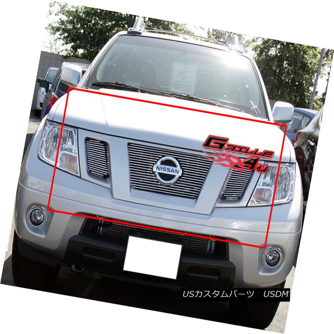 グリル Fits 2009-2018 Nissan Frontier Billet Main Upper Grille Insert フィット2009-2018日産フロンティアビレットメインアッパーグリルインサート