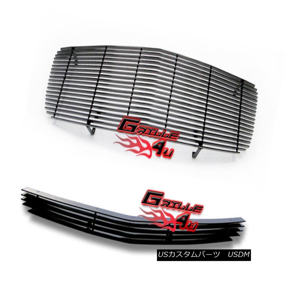 グリル Customized For 05-10 Dodge Charger Black Billet Premium Grille Combo Insert 05-10ダッジチャージャブラックビレットプレミアムグリルコンボインサート用にカスタマイズ