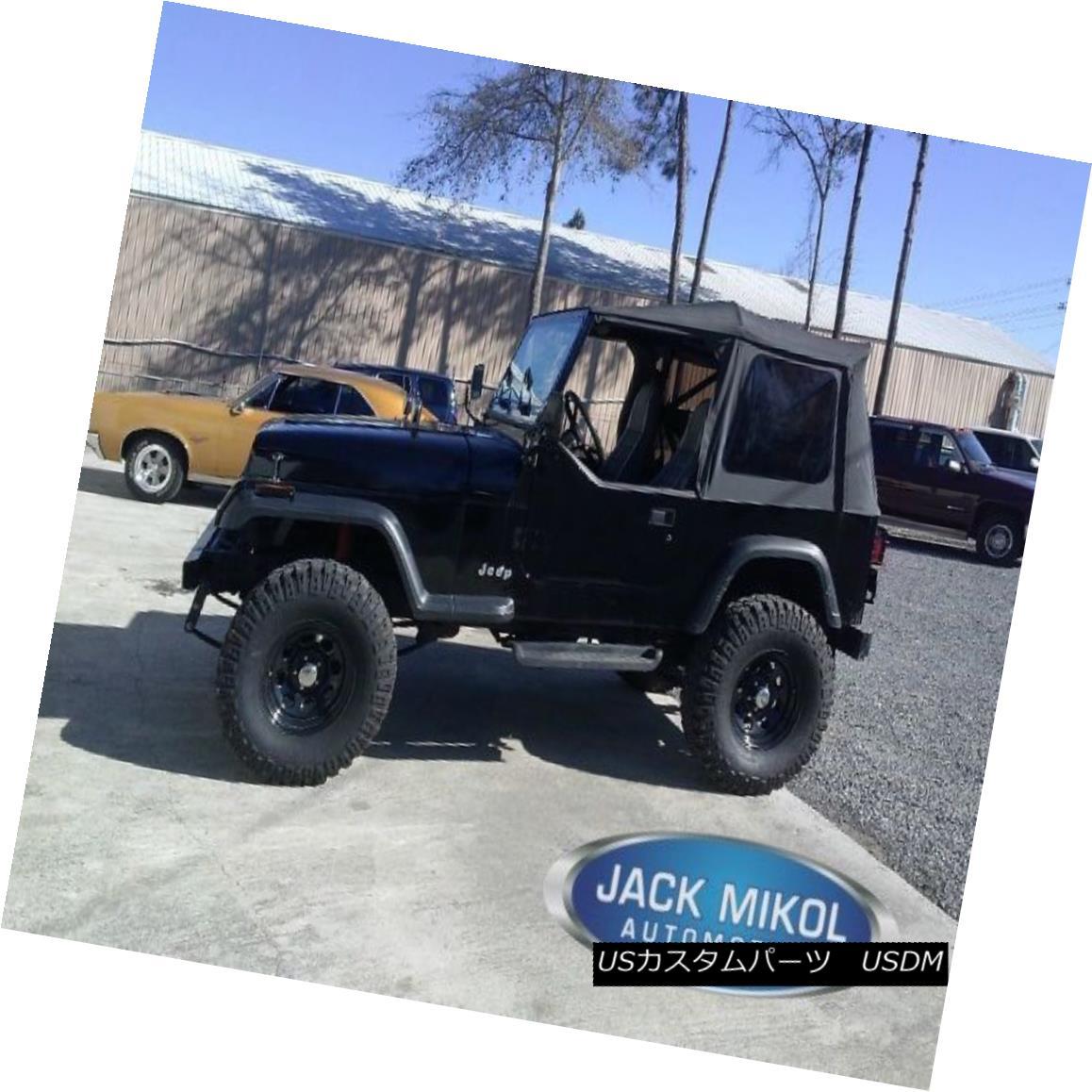 幌・ソフトトップ Black 1988-1995 Jeep Wrangler Soft Top Tinted Windows w/o Skins Black 1988-1995 Jeep Wranglerソフトトップティンテッドウィンドウズスキンなし