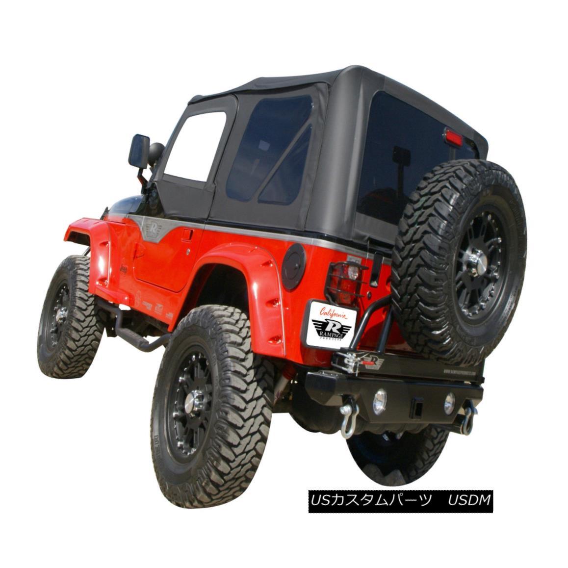 幌・ソフトトップ Jeep Wrangler Soft Top Black Diamond with Skins and Tinted Plastic Windows 99535 ジープラングラーソフトトップブラックダイヤモンドスキンと着色プラスチックWindows 99535