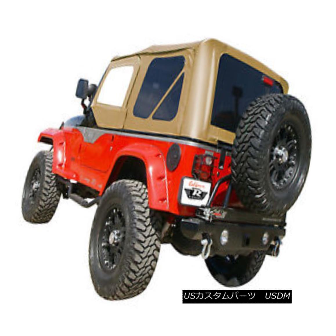 幌・ソフトトップ 1997-2006 Jeep Wrangler Complete Soft Top w/Hardware spice w/tint windows 68517 1997年から2006年のジープラングラー完全なソフトトップ、ハードウェアスパイス、ティントウィンドウ付き68517