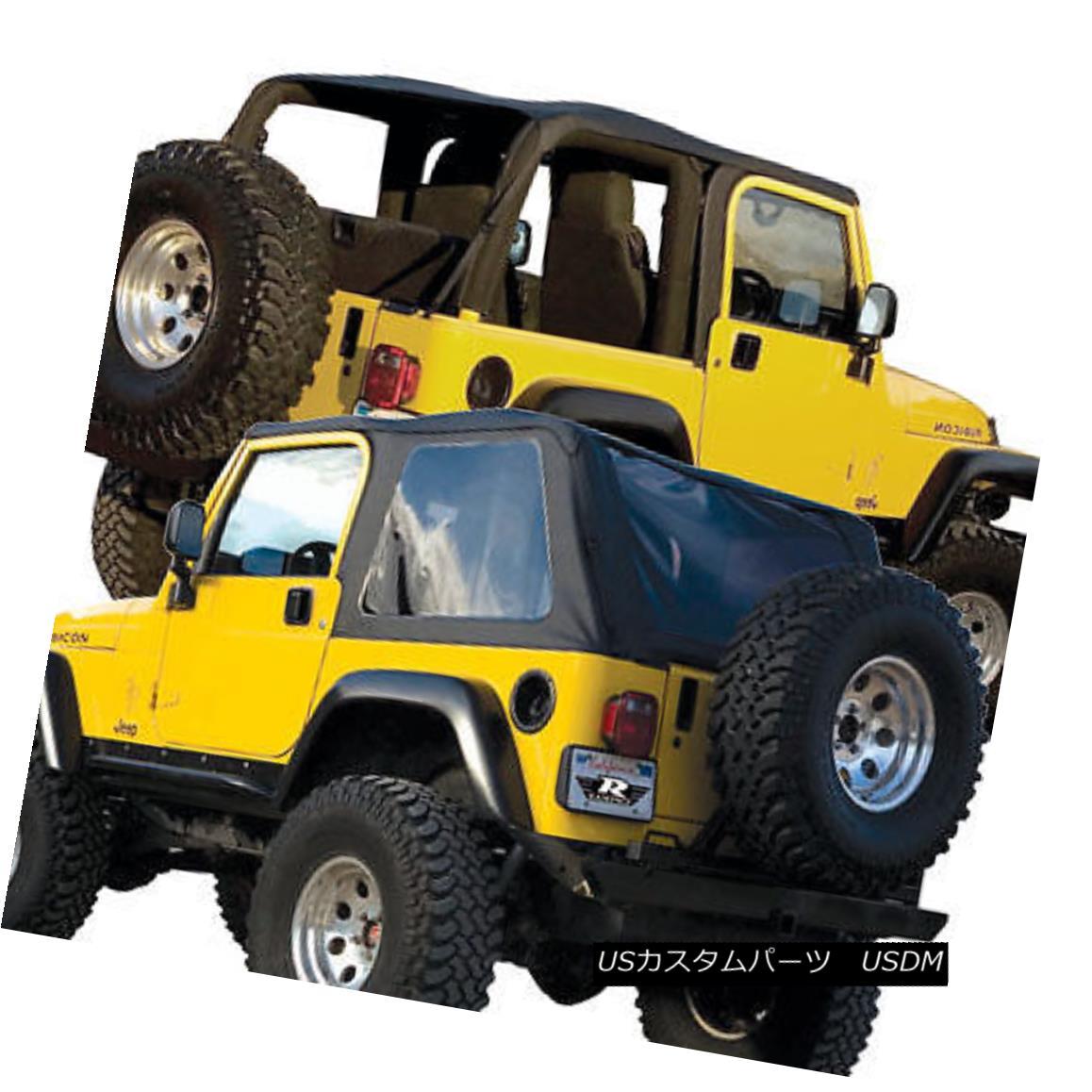 幌・ソフトトップ 2004 05 2006 soft top Jeep Wrangler UNLIMITED framelesS TOP SAILCLOTH 109635 2004 05 2006ソフトトップジープラングラー無制限のフレームフレームTOP SAILCLOTH 109635