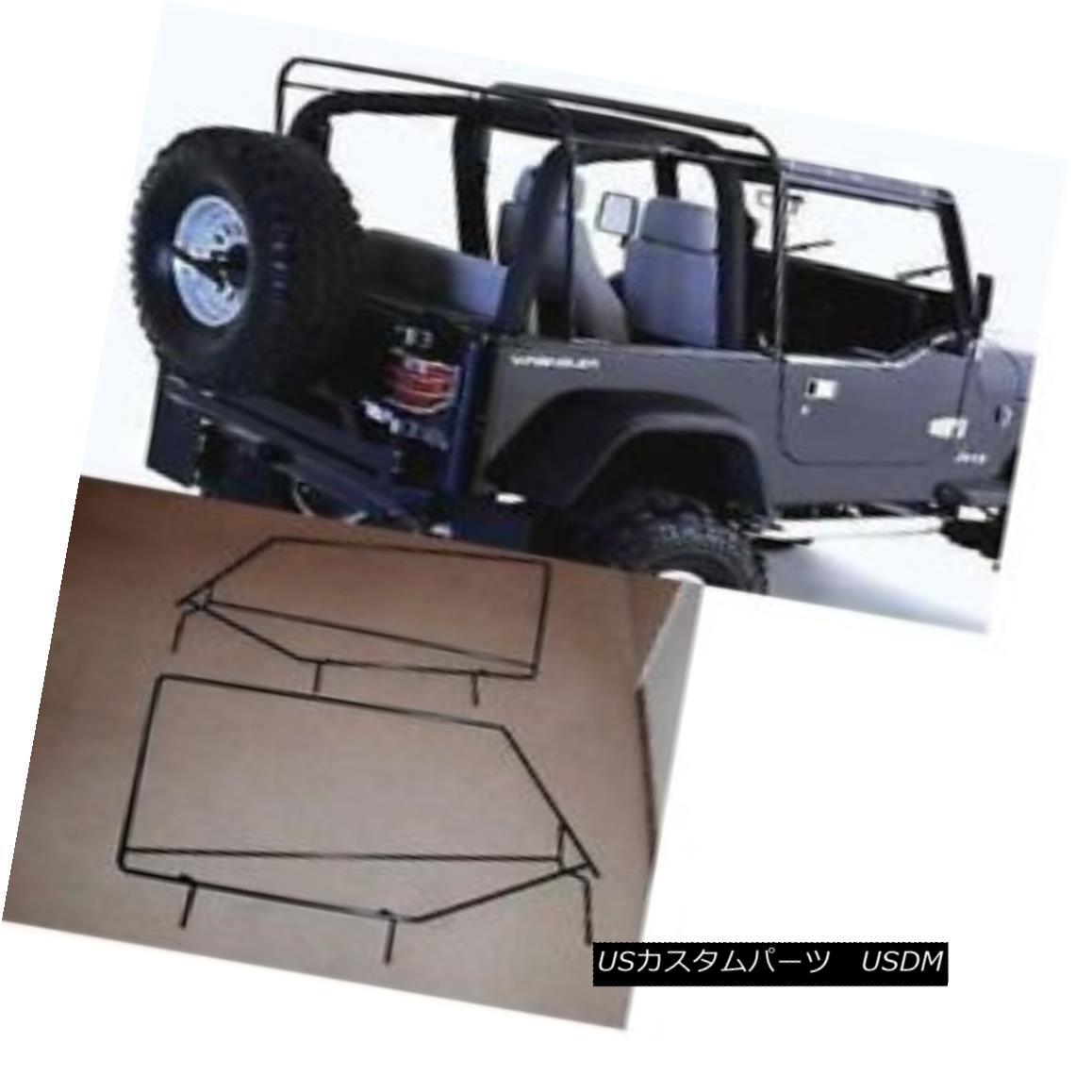 幌・ソフトトップ 88-95 Jeep wrangler soft top hardware frame factory style squared door frames 88-95ジープラングラーソフトトップハードウェアフレーム工場スタイルの四角いドアフレーム