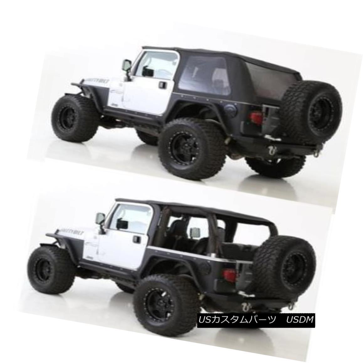 幌・ソフトトップ 1997-2006 soft top Jeep Wrangler BLACK TINTED Bowless Combo top 9973235 1997年?2006年のソフトトップジープラングラーBLACK TINTED Bowless Comboトップ9973235