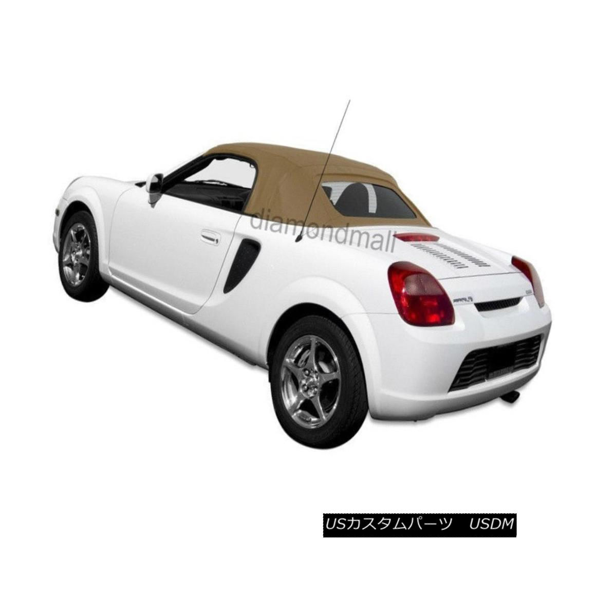 幌・ソフトトップ NEW TOYOTA MR2 Spyder 2000-2007 Convertible Soft Top Spider TAN Twill NEW TOYOTA MR2 Spyder 2000-2007コンバーチブルソフトトップスパイダーTAN Twill