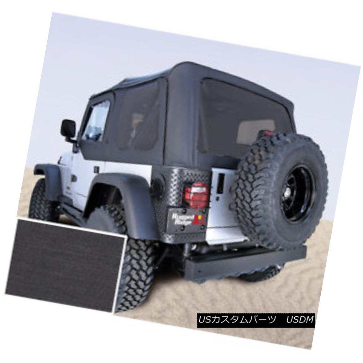 幌・ソフトトップ Rugged Ridge 13726.15 XHD Soft Top Black Denim Tinted Window Jeep Wrangler 頑丈なリッジ13726.15 XHDソフトトップブラックデニムティンテッドウィンドウジープラングラー