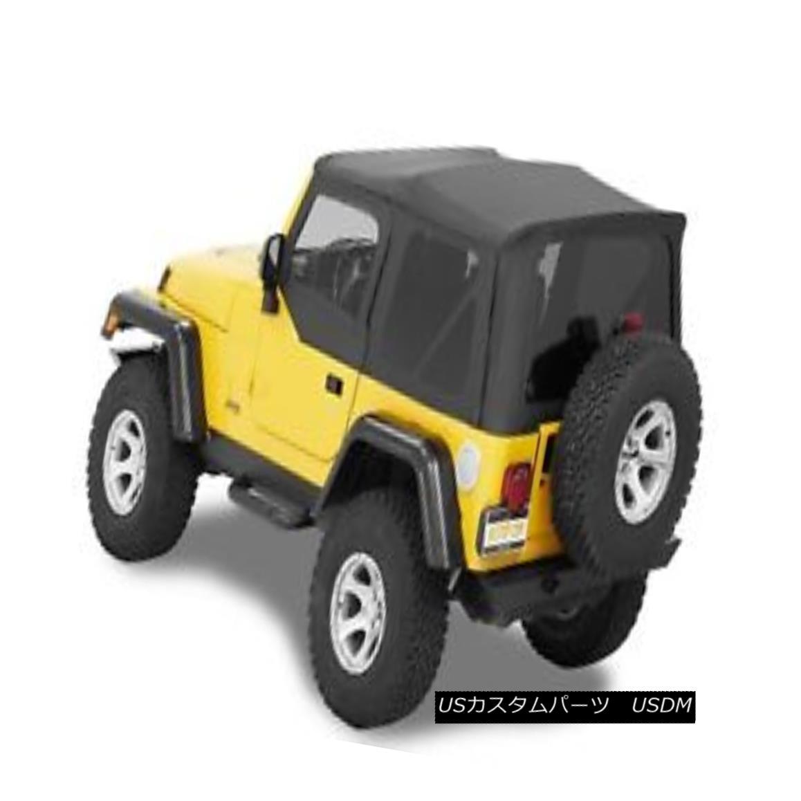 幌・ソフトトップ Bestop 54720-15 Jeep Supertop NX Complete Replacement Soft Top Black Denim Bestop 54720-15ジップスーパートップNX完全交換ソフトトップブラックデニム