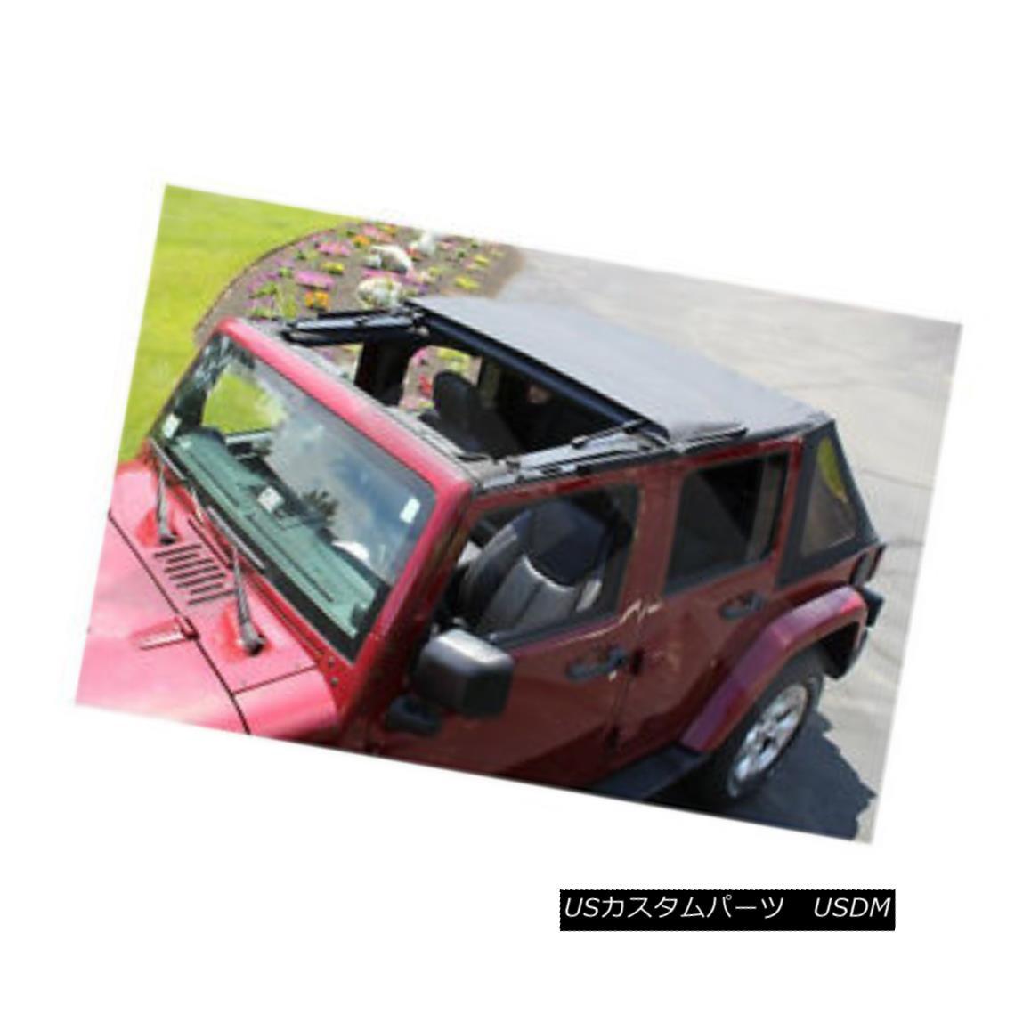 幌・ソフトトップ Fold Back Soft Top 2-Door Jeep Wrangler JK 2007-2016 Rough Trail RT10735T 折り返しソフトトップ2ドアジープラングラーJK 2007-2016 Rough Trail RT10735T