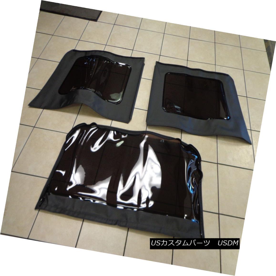 幌・ソフトトップ 11-16 Jeep Wrangler Dark Tinted Soft Top Windows Replacement Kit Black 4dr Mopar 11-16ジープラングラーダークティンテッドソフトトップウィンドウ交換キットブラック4dr Mopar