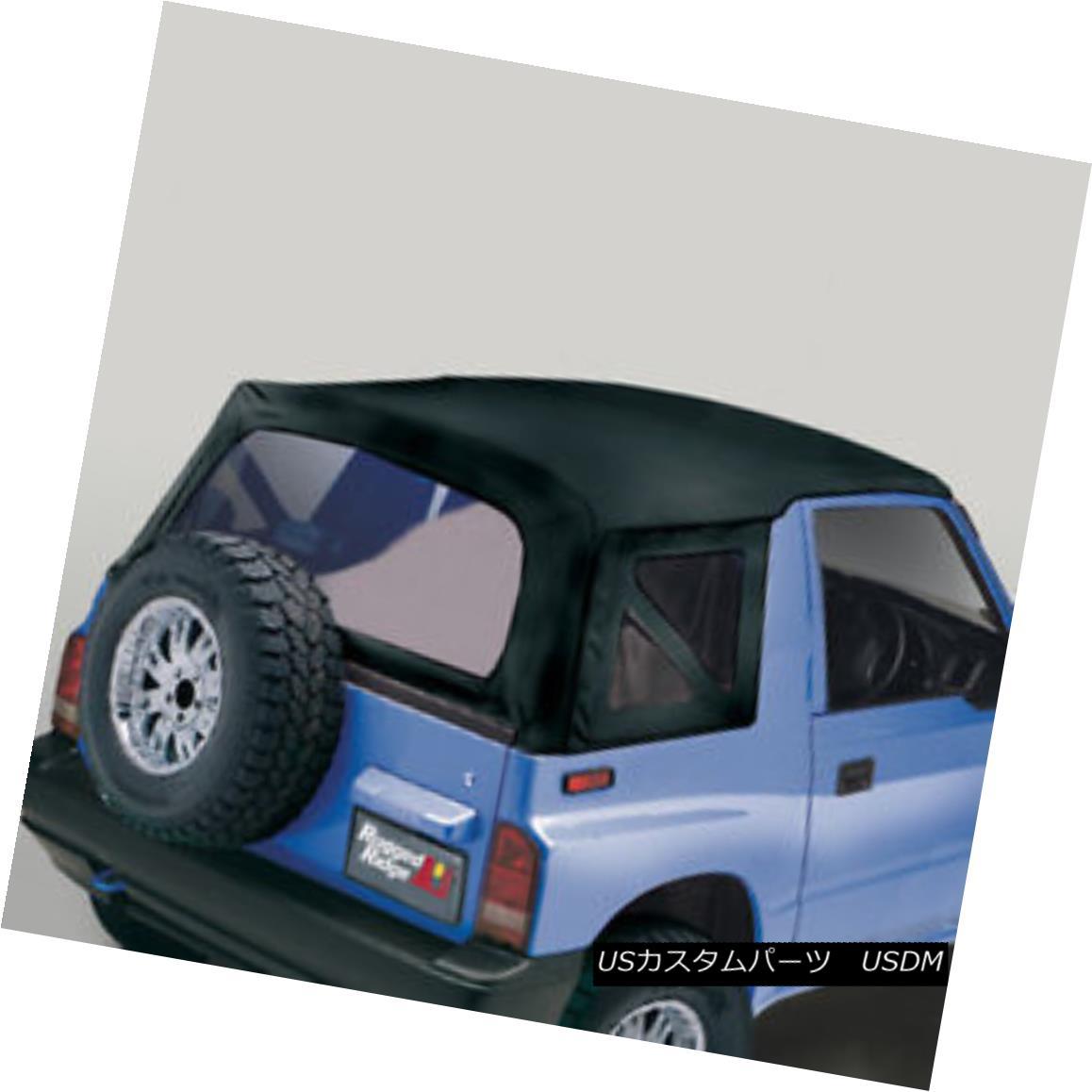 幌・ソフトトップ Rugged Ridge 53723.15 XHD Soft Top Black Denim Clear Windows Suzuki Sidekicks 頑丈なリッジ53723.15 XHDソフトトップブラックデニムクリアウィンドウズスズキサイドキックス