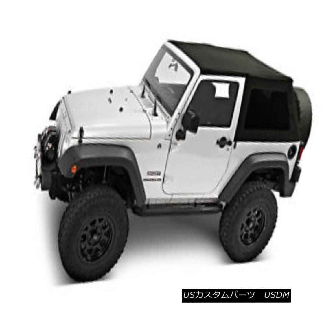 幌・ソフトトップ Pavement Ends Sprint Top Tinted Windows 07-09 Jeep Wrangler JK 2 Door Black 舗装終了スプリントトップティンテッドウィンドウ07-09ジープラングラーJK 2ドアブラック