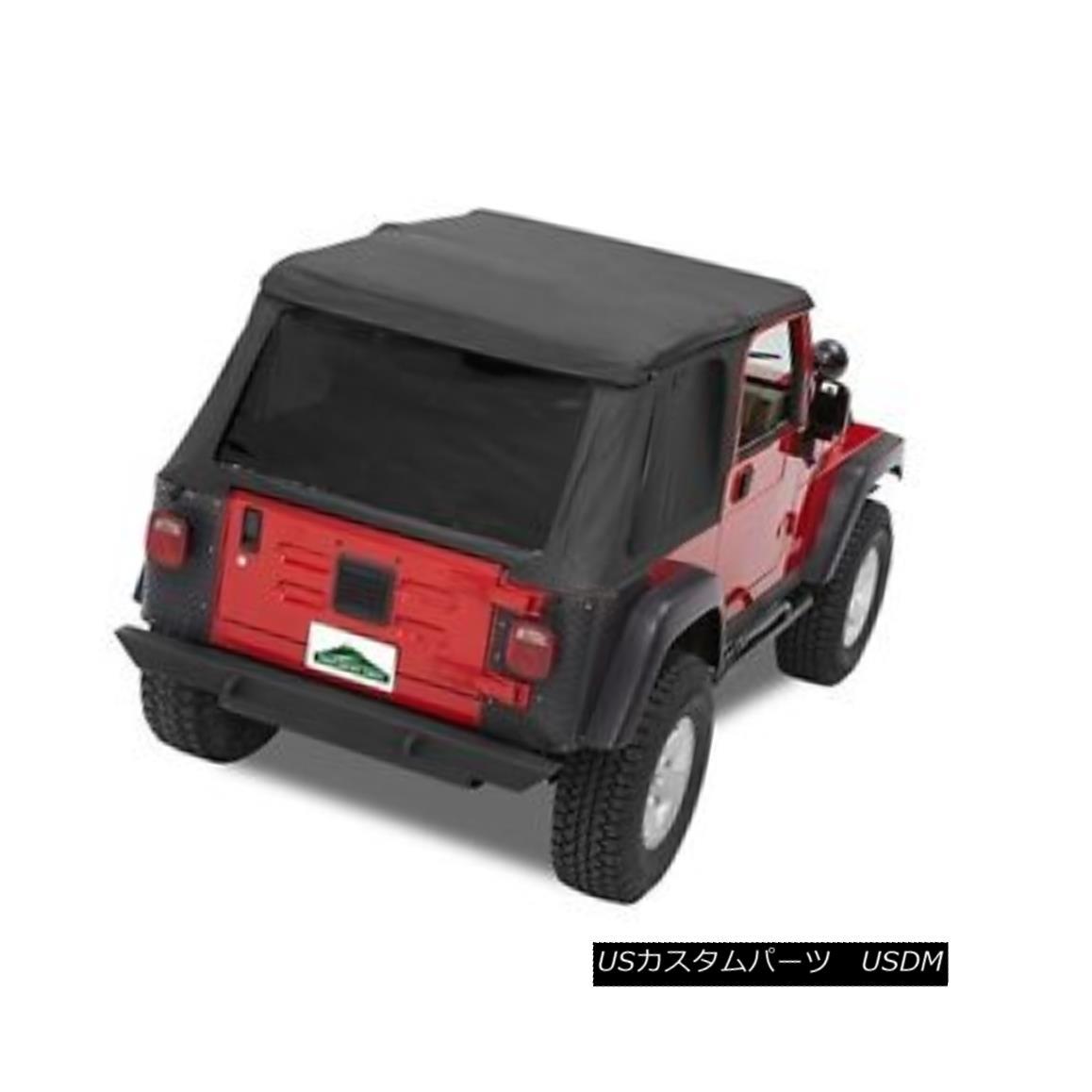 幌・ソフトトップ Pavement Ends Sprint Top Tinted Windows - Black Denim for 97-06 Jeep Wrangler TJ 舗装終了スプリントトップティントウィンドウ - ブラックデニムfor 97-06ジープラングラーTJ