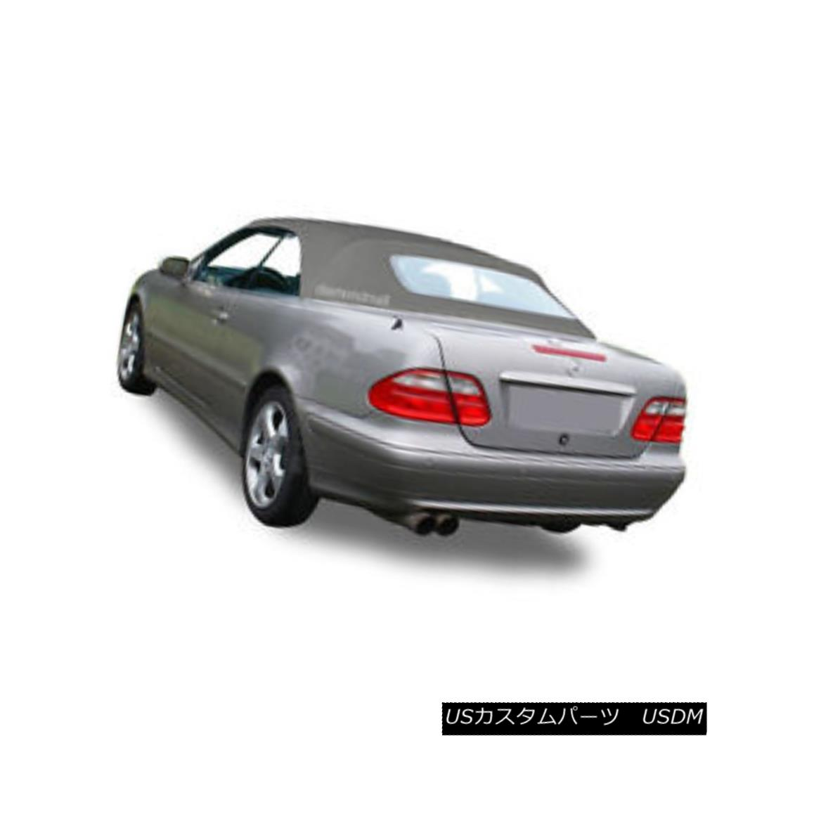 幌・ソフトトップ NEW Mercedes Benz CLK Series 1999-2003 Convertible Soft Top Gray Stayfast Cloth NEWメルセデスベンツCLKシリーズ1999-2003コンバーチブルソフトトップグレーステイファストクロス