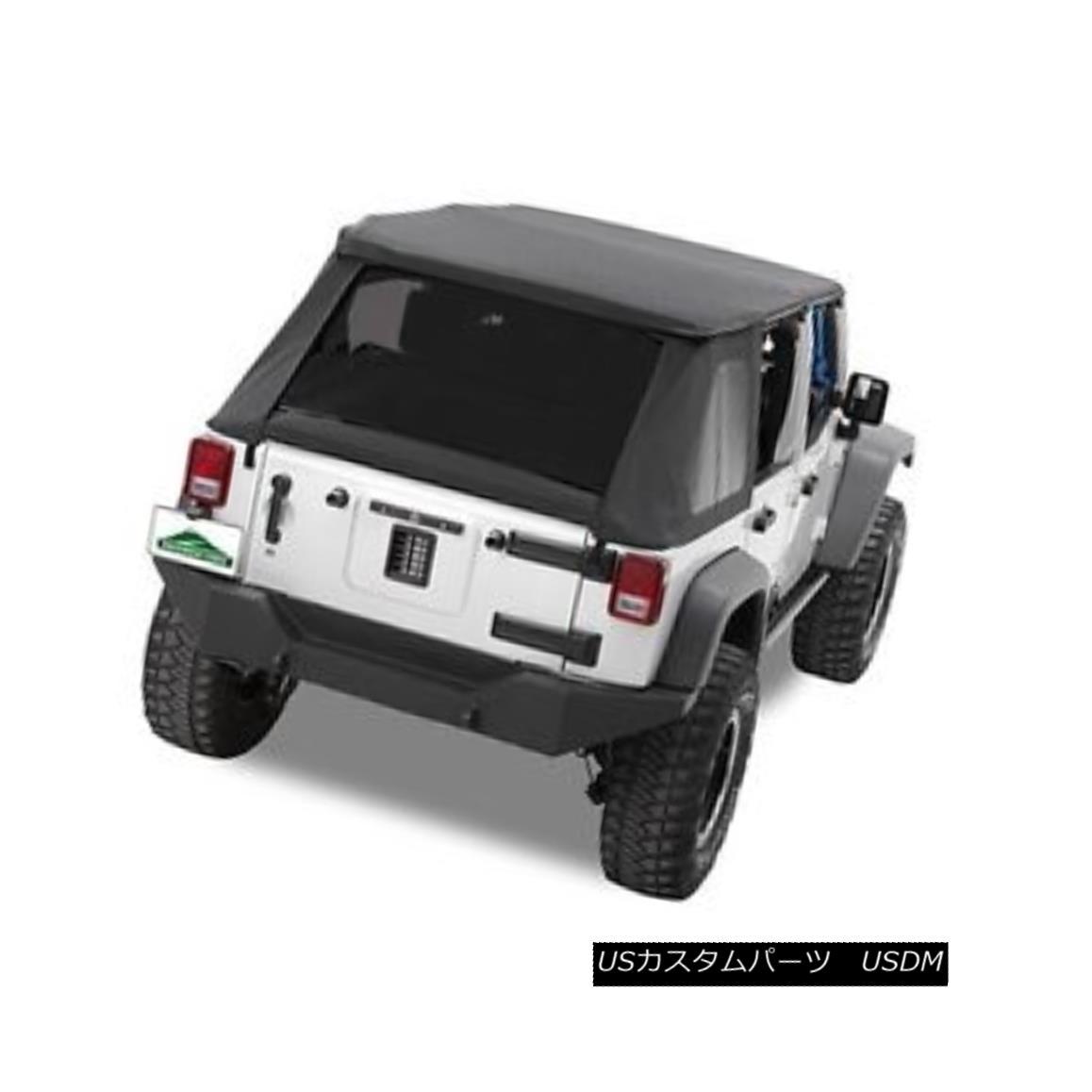 幌・ソフトトップ Pavement Ends Sprint Top Tinted Windows 07-09 Jeep Wrangler Unlimited JKU Black 舗装終了スプリントトップティンテッドウインドウ07-09 Jeep Wrangler Unlimited JKU Black