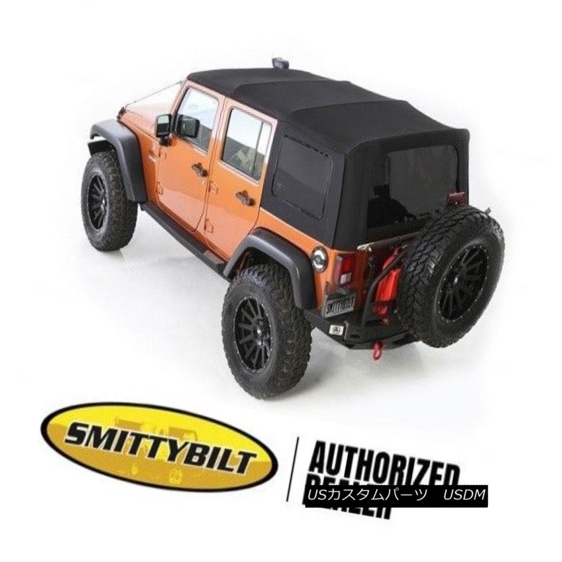 幌・ソフトトップ Smittybilt Premium Replacement Soft Top 07-09 Jeep Wrangler JKU 4 Door 9084235 Smittybiltプレミアム交換ソフトトップ07-09ジープラングラーJKU 4ドア9084235