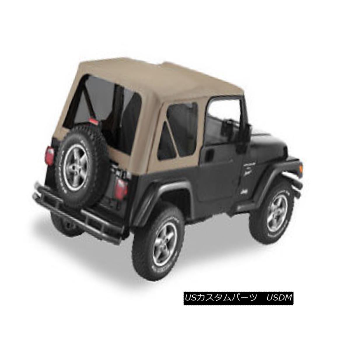 幌・ソフトトップ Jeep Wrangler TJ Dark Tan Replacement Soft Top w/ Tinted Windows ジープラングラーTJダークタン交換ソフトトップウインドウ付き