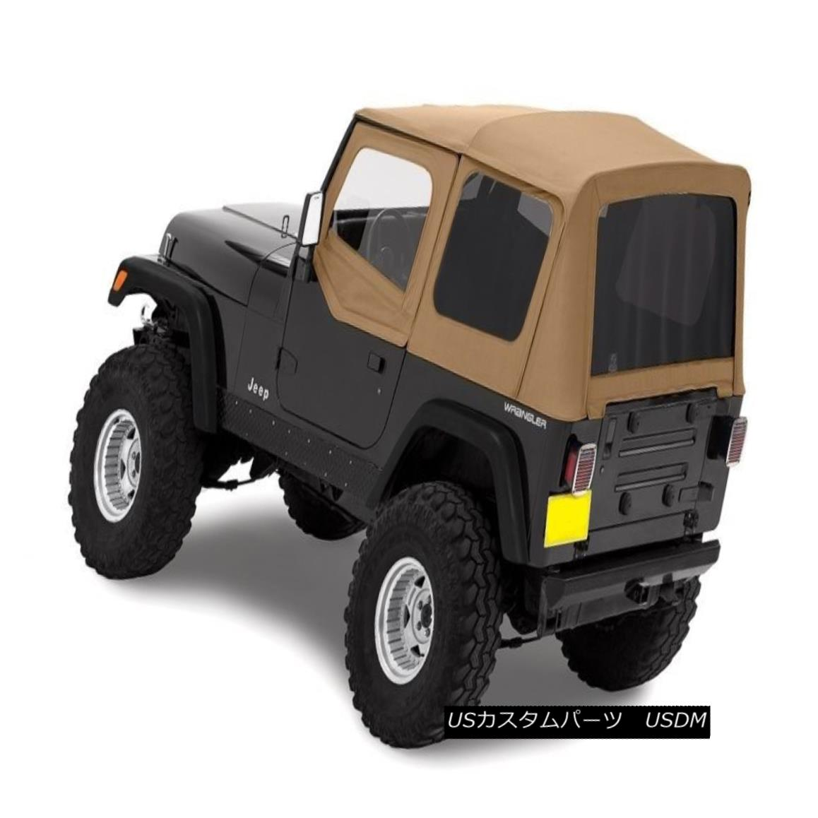 幌・ソフトトップ 1987-1995 Jeep Wrangler Complete Soft Top Kit Upper Doors & Tinted Windows Spice 1987-1995 Jeep Wrangler CompleteソフトトップキットUpper Doors& 着色Windowsスパイス
