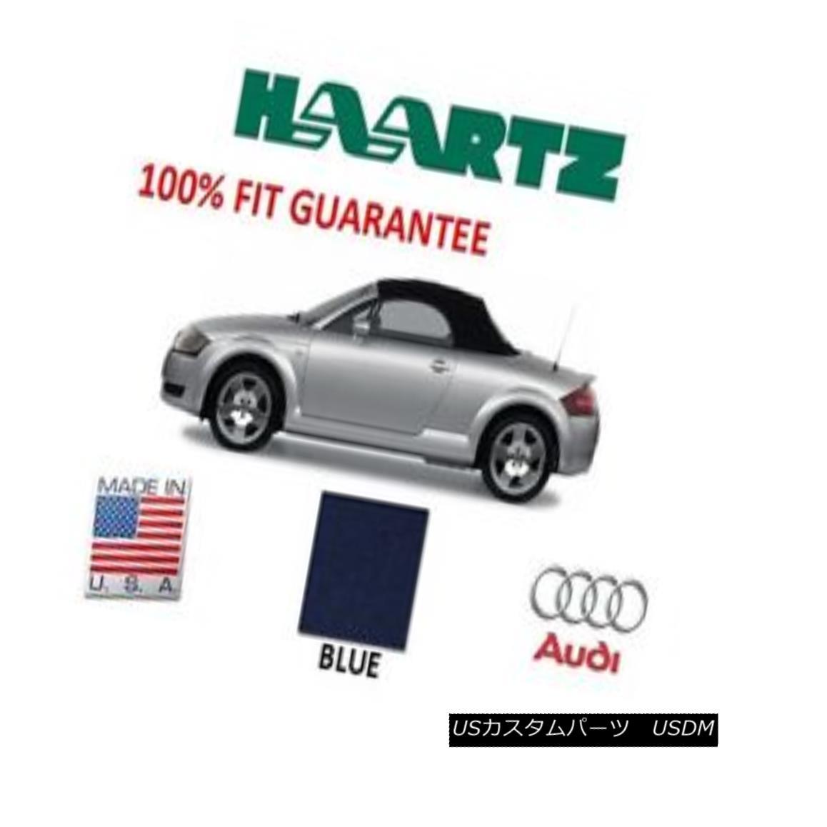 幌・ソフトトップ Audi TT 2000-2005 Convertible Soft Top With Glass Window Blue Stayfast Cloth NEW Audi TT 2000-2005コンバーチブルソフトトップ(ガラス窓付)ブルーステイファストクロス