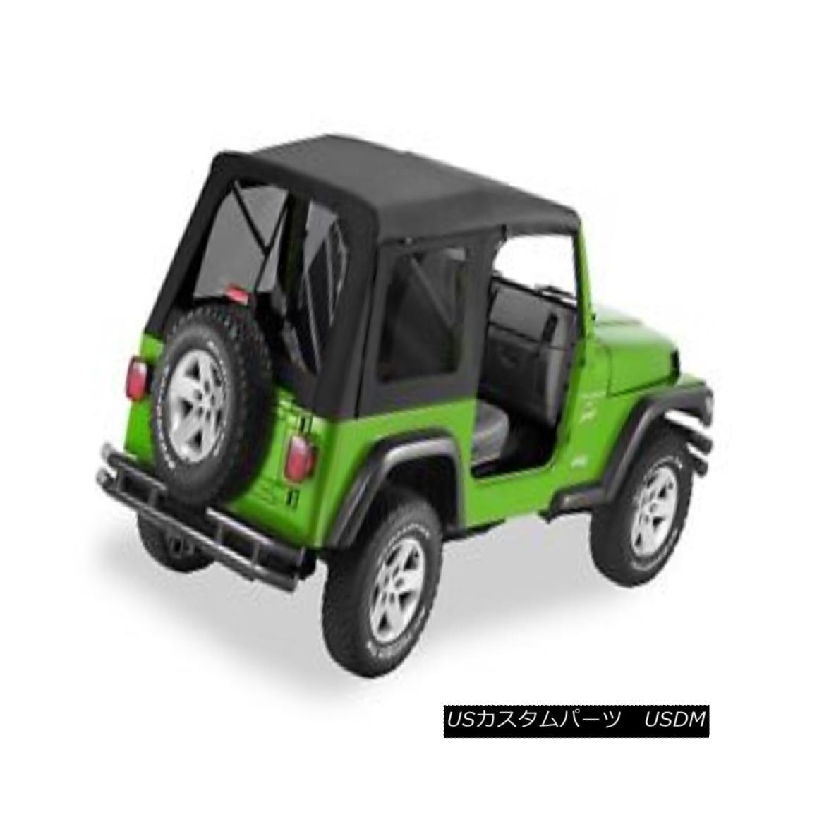 幌・ソフトトップ Bestop 54709-35 Jeep Supertop Classic Replacement Soft Top Black Diamond Bestop 54709-35ジップスーパートップクラシック交換ソフトトップブラックダイヤモンド