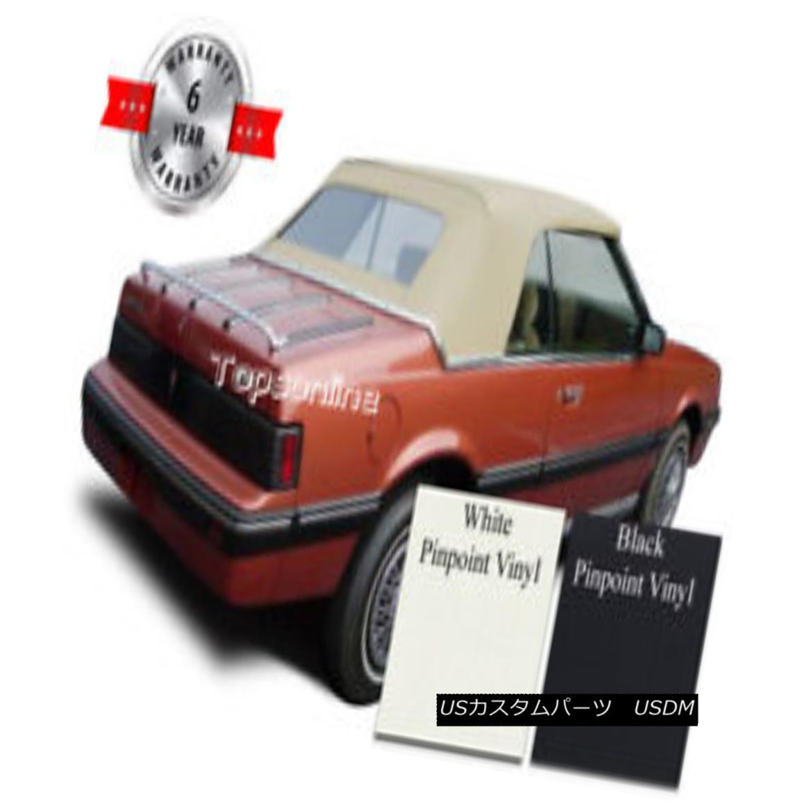 幌・ソフトトップ Cavalier & Sunbird Convertible Soft Top With Plastic Window & Video Vinyl 83-87 キャバリアー& サンバード・コンバーチブル・ソフト・トップ(プラスチック・ウィンドウ& ビデオVinyl 83-87