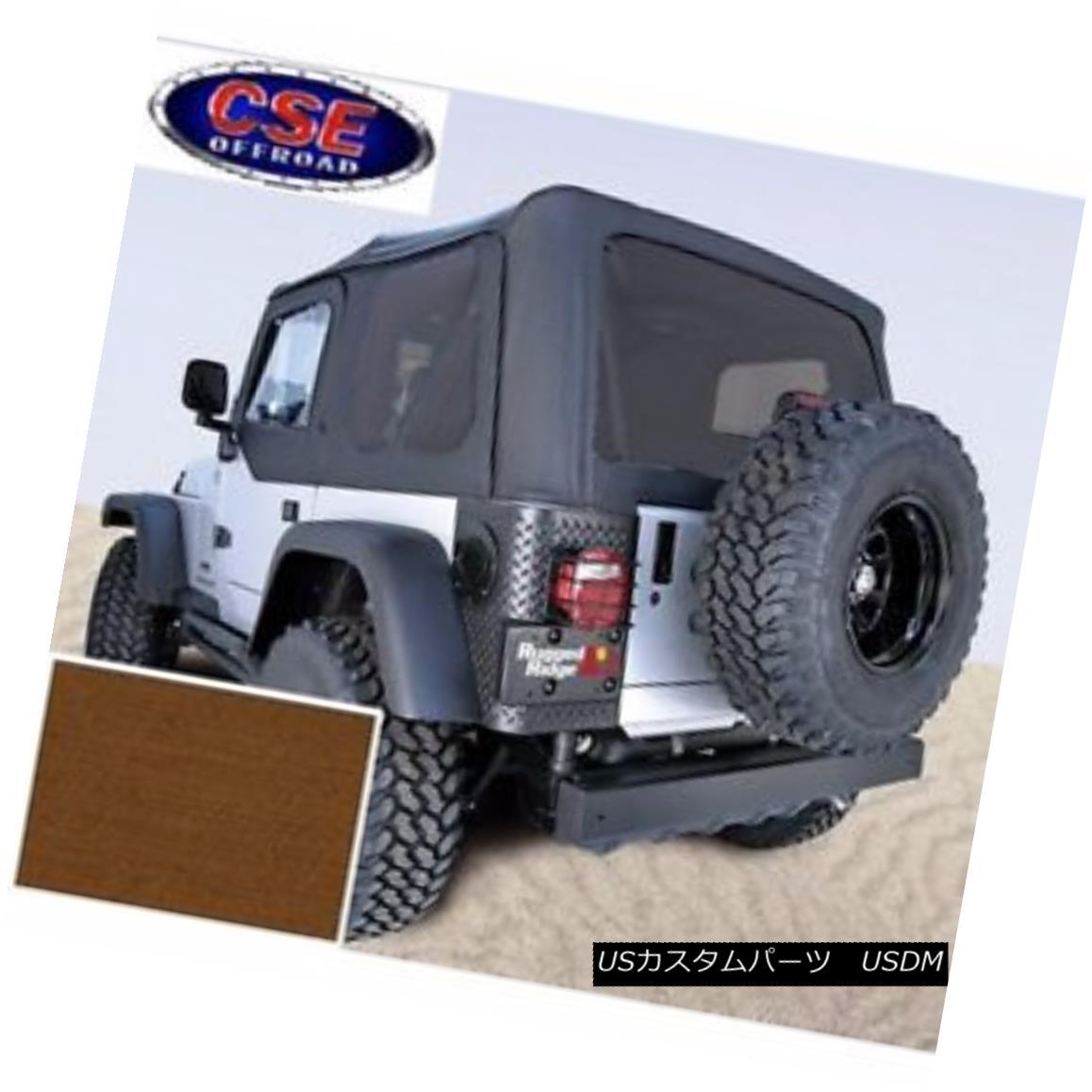 幌・ソフトトップ Soft Top Door Skins Dark Tan Tinted Windows Jeep Wrangler TJ 97-02 13704.33 ソフトトップドアスキンダークタンティントドウィンドウジープラングラーTJ 97-02 13704.33