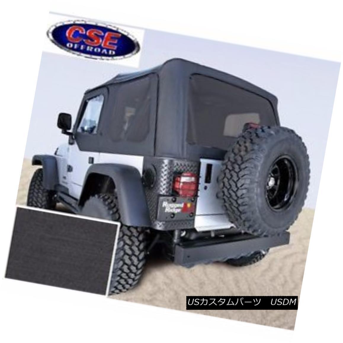 幌・ソフトトップ Black Soft Top with Tinted Windows Jeep Wrangler TJ 97-02 13706.15 Rugged Ridge ティンテッド・ウィンドウを備えたブラック・ソフト・トップジープ・ラングラーTJ 97-02 13706.15頑丈なリッジ