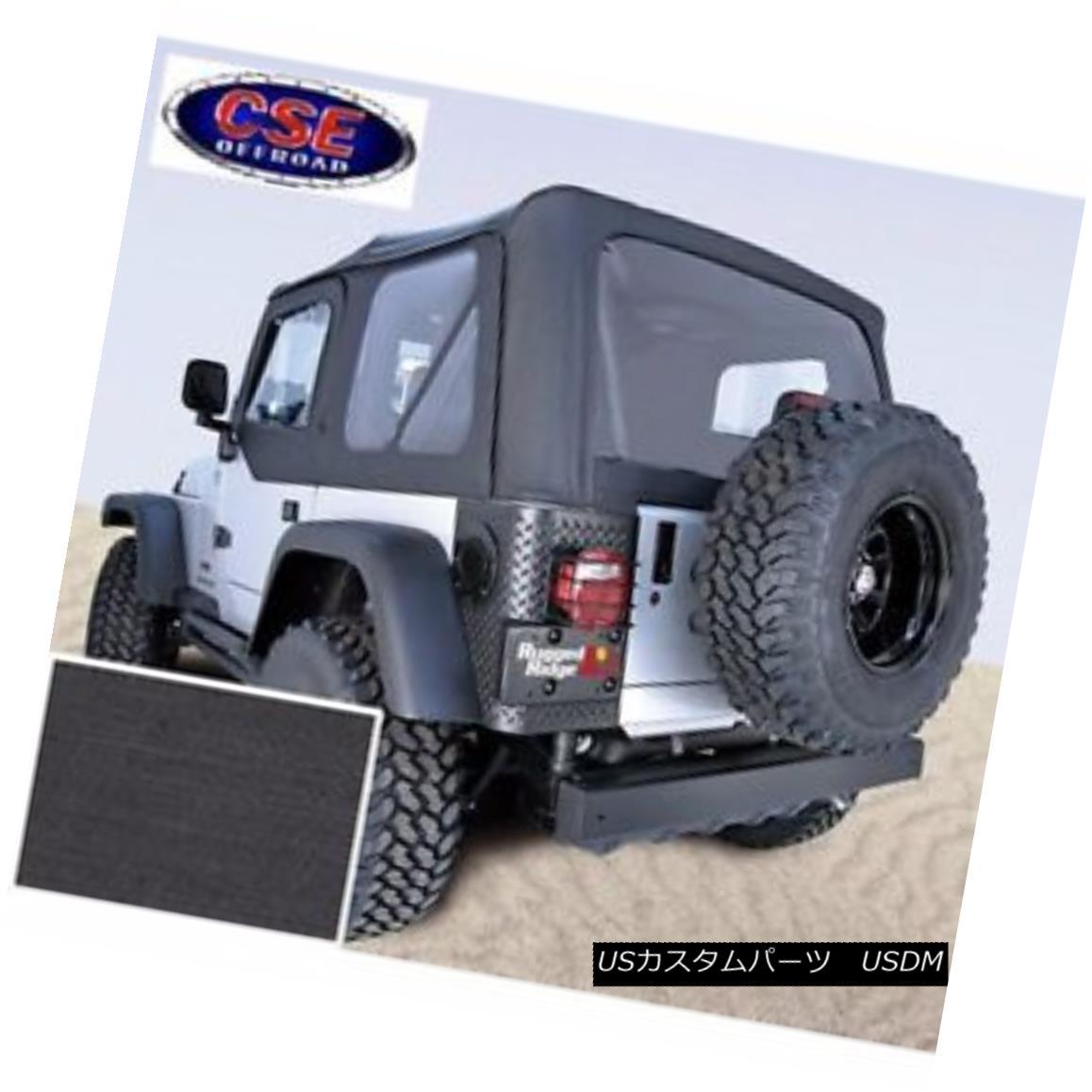 幌・ソフトトップ Soft Top with Door Skins Black Clear Windows Jeep Wrangler TJ 1997-2002 13703.15 ソフトトップドアスキンブラッククリアウィンドウジープラングラーTJ 1997-2002 13703.15