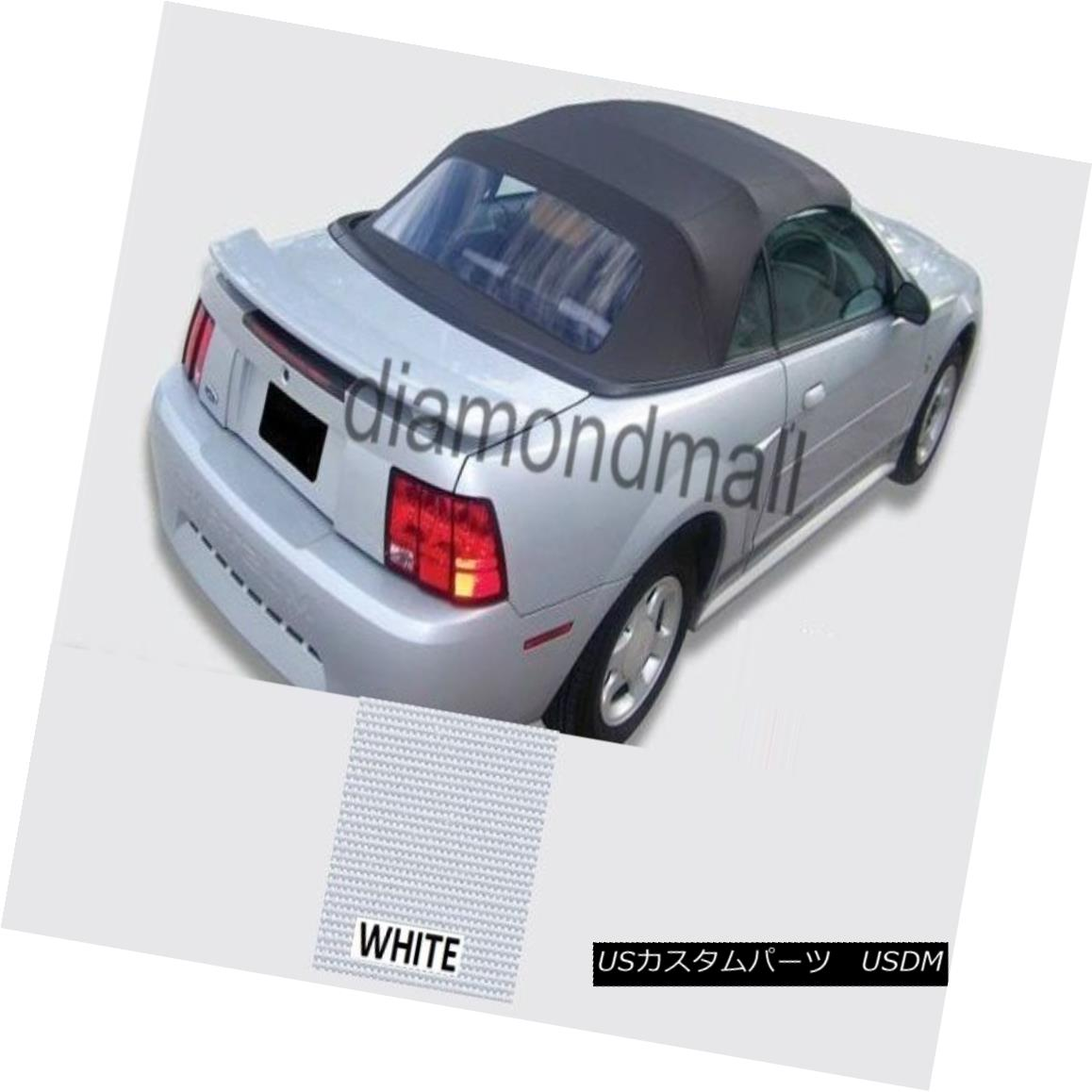 幌・ソフトトップ Ford mustang Convertible Soft top With Plastic window WHITE Sailcloth 1994-2004 フォードmustangコンバーチブルソフトトッププラスチック窓WHITE Sailcloth 1994-2004
