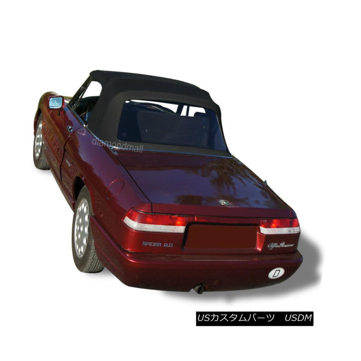 幌・ソフトトップ Alfa Romeo Spider Graduate Veloce Convertible Soft Top BLACK Stayfast Cloth Alfa Romeo Spider GraduateベロアコンバーチブルソフトトップBLACK Stayfast Cloth