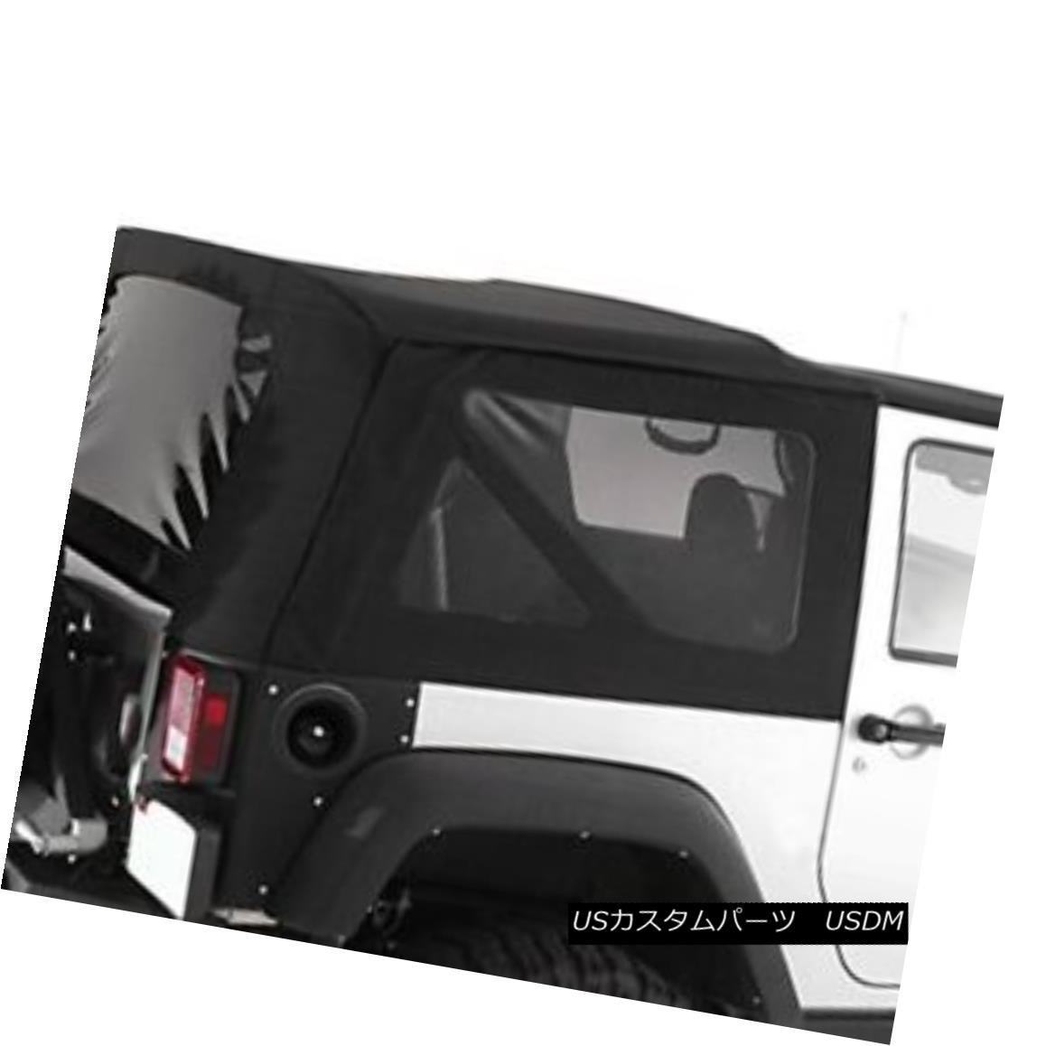 幌・ソフトトップ Smittybilt 9075235 - Diamond Black OEM Replacement Soft Top with Tinted Windows Smittybilt 9075235 - ダイヤモンドブラックOEM交換ソフトトップ