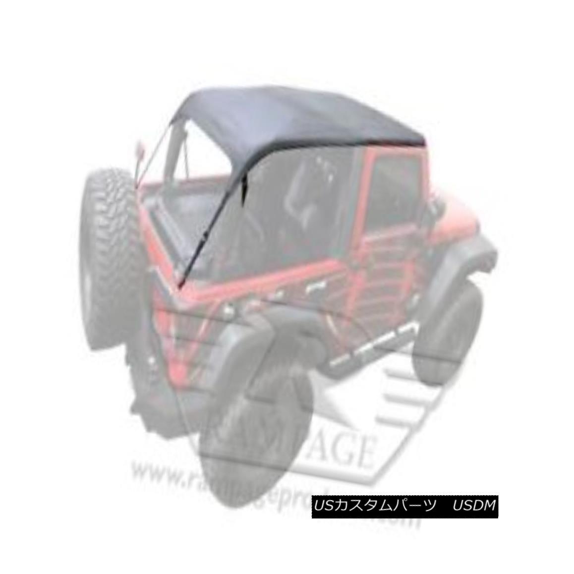 幌・ソフトトップ Rampage - Frameless Trail Soft Top-109935 ランペイジ - フレームレストレイルソフトトップ-109935