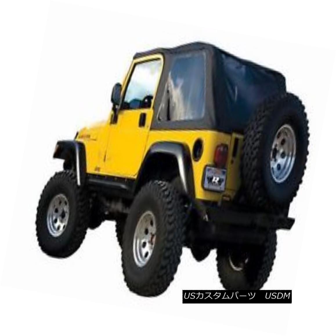 幌・ソフトトップ Rampage Frameless Soft Top Kit, 97-06 TJ Wrangler Sailcloth Black ランペイジフレームレスソフトトップキット、97-06 TJ Wrangler Sailcloth Black