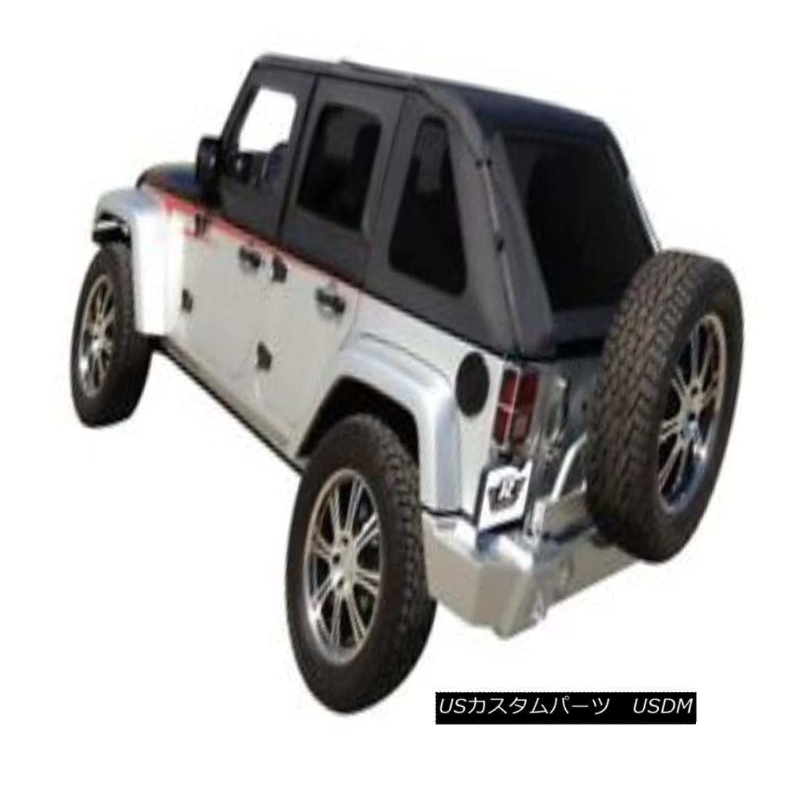 幌・ソフトトップ Rampage - Black Diamond Frameless Soft Top Kit-109835 ランペイジ - ブラックダイヤモンドフレームレスソフトトップキット - 109835