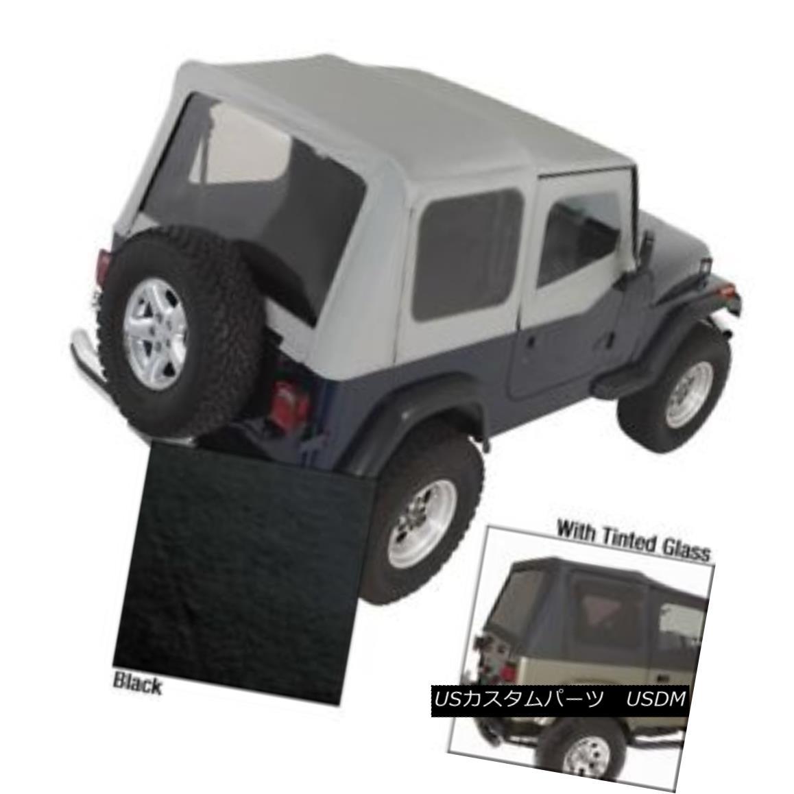 幌・ソフトトップ Soft Top With Door Skins Black Tinted Windows Jeep Wrangler YJ 88-95 13702.15 柔らかいトップドアスキンで黒色の色づけされた窓ジープラングラーYJ 88-95 13702.15