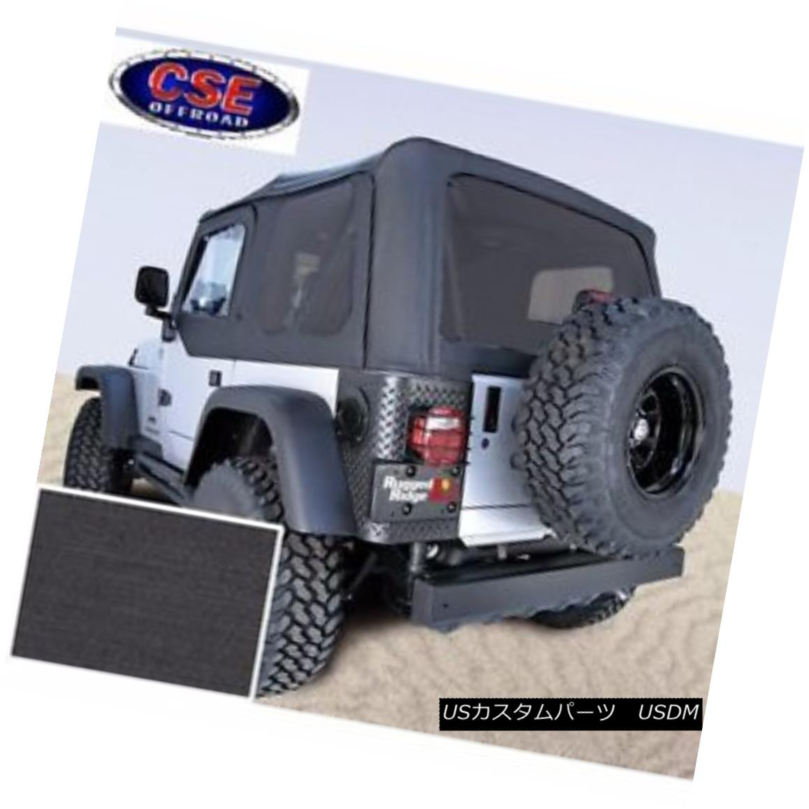 幌・ソフトトップ Soft Top Door Skins Black Tinted Windows Fits: Jeep Wrangler TJ 1997-02 13704.15 ソフトトップドアスキンブラックティンテッドウィンドウフィット:Jeep Wrangler TJ 1997-02 13704.15