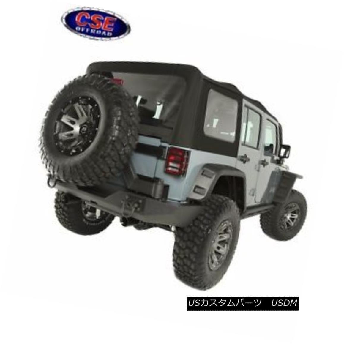 幌・ソフトトップ Sailcloth Soft Top Black Diamond Jeep 4 Door Wrangler JK 10-16 13742.01 セーラークロスソフトトップブラックダイヤモンドジープ4ドアラングラーJK 10-16 13742.01