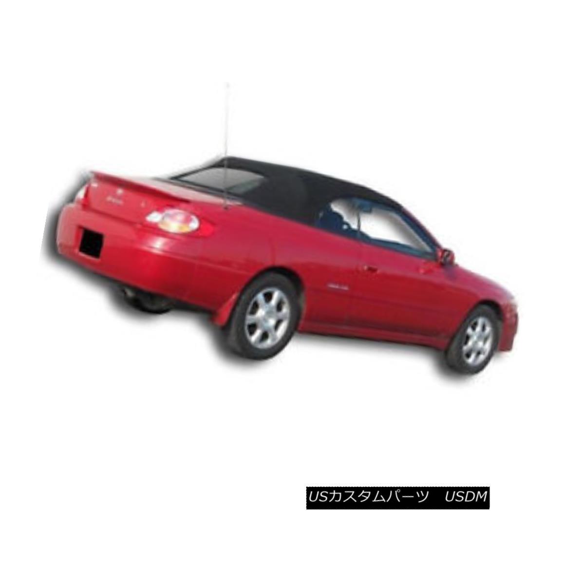 幌・ソフトトップ Toyota Solara Convertible Soft Top & Heated Glass Window 1999-2003 Black Cloth トヨタソララコンバーチブルソフトトップ& 加熱ガラス窓1999-2003 Black Cloth