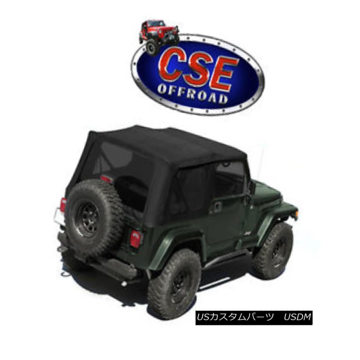 幌・ソフトトップ 17322.35 XHD Black Diamond Soft Top With Door Skins, Tint Jeep Wrangler 1988-95 17322.35 XHDブラックダイヤモンドソフトトップ、ドアスキン、ティントジープラングラー1988-95