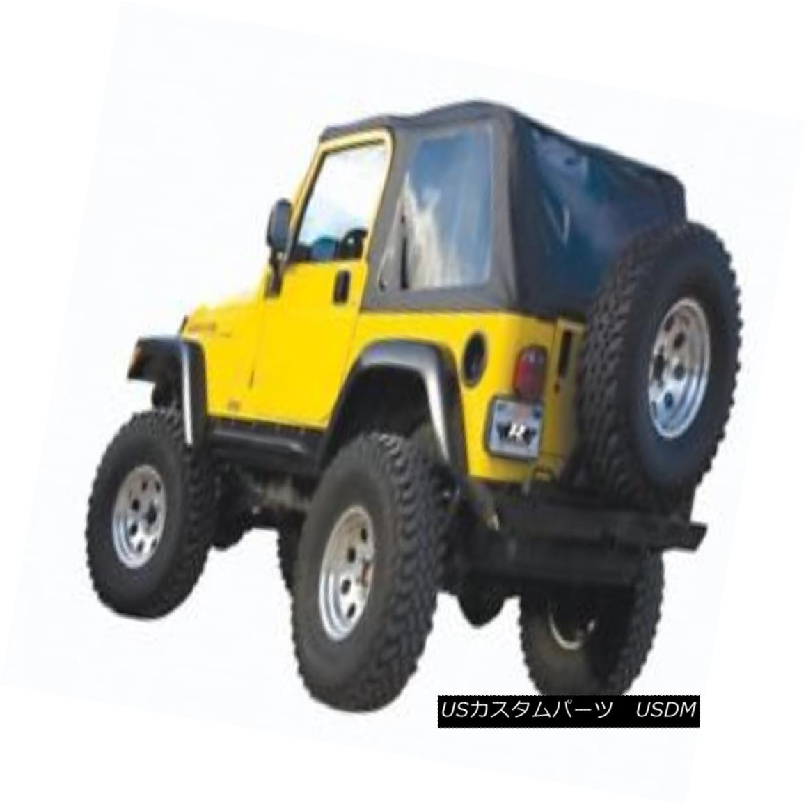 幌・ソフトトップ Rampage 109635 Frameless Soft Top Kit Black Diamond & Tint 2004-2006 LJ Wrangler ランペイジ109635フレームレスソフトトップキットブラックダイヤモンド& Tint 2004-2006 LJ Wrangler