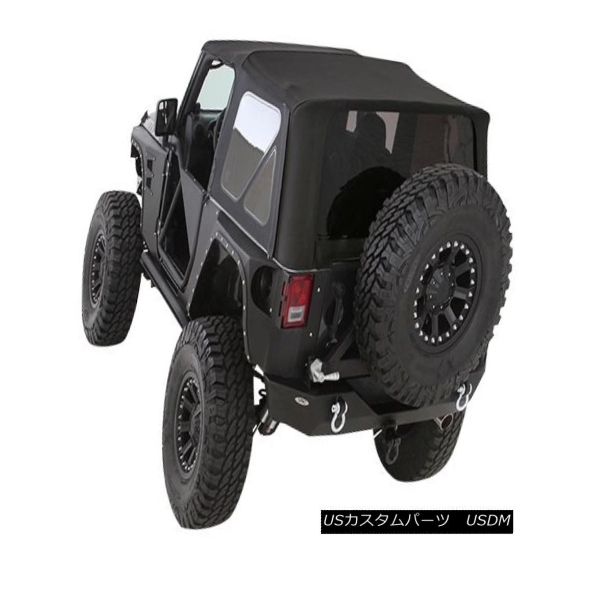 幌・ソフトトップ 2010-2017 Jeep Wrangler 2 Dr Premium Twill Replacement Soft Top & Tinted Windows 2010-2017ジープラングラー2 Dr Premium Twill Replacementソフトトップ& 色づけされたウィンドウ
